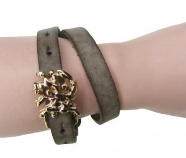Boom Belts Wechselschließe Abstrakt gold für Damen, Herren Leder Armbänder mit 1 cm Breite