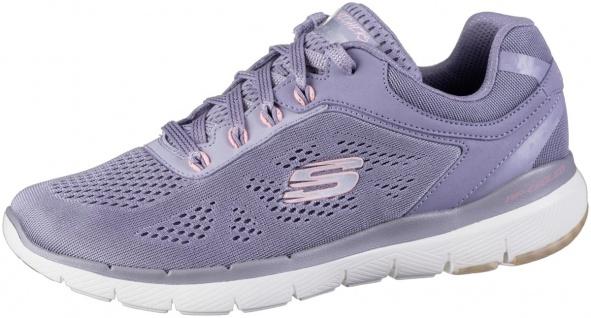 SKECHERS Flex-Appeal 3.0 Damen Mesh Sneakers lavender, Air Cooled Memory Foam...