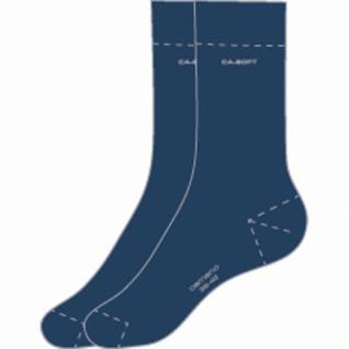 Camano Ca-Soft Socks unisex NOS blau, 2er Pack Damen, Herren Socken
