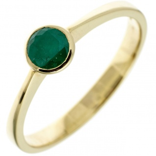 Damen Ring 333 Gold Gelbgold 1 Smaragd grün Goldring