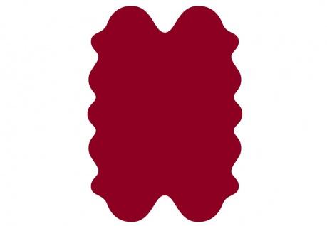 exklusive Lammfell Fellteppiche rot gefärbt, 4 Einzelfelle, waschbar, Haarlän...