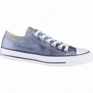 Converse CTAS Chuck Taylor All Star coole Damen Metallic Canvas Sneakers Low blue fire, Textilfutter, 1239110