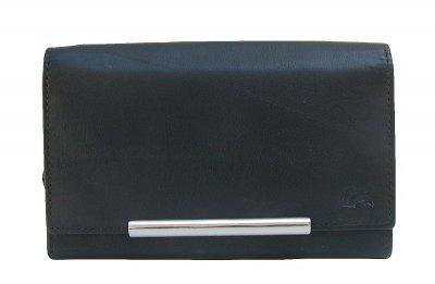 Dolphin exklusive große Damen Leder Börse schwarz, 9xCC, 3 Scheinfächer, EK-Chip, viele Fächer, ca. 16, 5x11 cm
