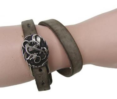 Boom Belts Wechselschließe Anker silber für Damen, Herren Leder Armbänder mit 1 cm Breite - Vorschau