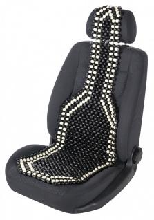 Top: Sitzauflage aus echten Holzperlen schwarz-weiß für alle PKW, 128x40 cm, ...