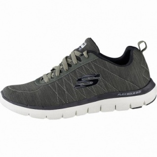 Skechers Flex Advantage 2.0 Chillston coole Herren Synthetik Sneakers oliv, Air-Cooled Memory Foam-Fußbett, 4241151/44