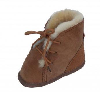 weiche Lammfell Baby Schnür Boots camel, hoch geschnitten, Gerbung ohne schädliche Stoffe, Gr. 21-22