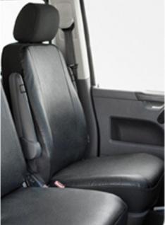 Kunstleder Autositzbezug VW T5 anthrazit waschbar, Einzelsitz vorn, ab Baujahr 09/09