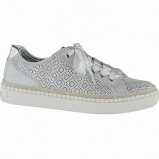 Marco Tozzi coole Damen Metallic Synthetik Sneakers silber, gepolsterte Feel me Decksohle, 1240155