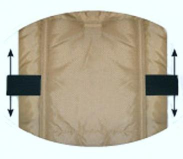 molliger Baby Winter Fleece Fußsack grau meliert, für Tragschalen, Autositze, ca. 79x39 cm, warm wattiert - Vorschau 2
