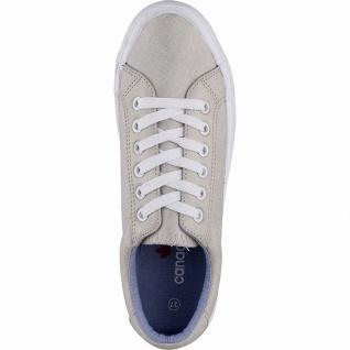 Canadians coole Damen Synthetik Sneakers beige, softe Decksohle, 30 mm Platea... - Vorschau 2