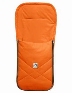 Baby Sommer Fußsack mit Baumwolle orange, waschbar, für Kinderwagen, Buggy, ca. 94x42 cm