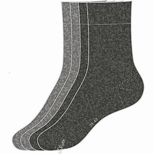 s.Oliver Classic NOS Unisex, 4er Pack Damen, Herren Socken grau