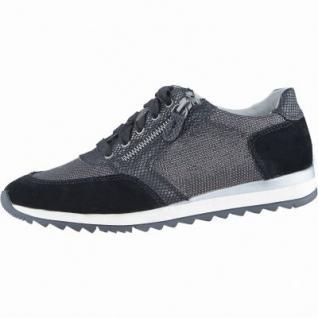 Jana sportliche Damen Leder Sneakers schwarz, Extra Weite H, Soft-Flex-System, 1338136/36