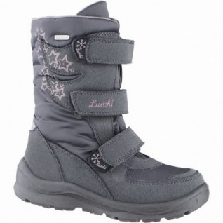 Lurchi Koby Mädchen Winter Synthetik Tex Stiefel grey, Warmfutter, warmes Fußbett, 3739123/38