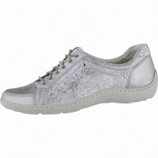 Waldläufer Henni 20 Damen Leder Halbschuhe stein, herausnehmbares Leder Fußbett, Extra Weite H, 1340150/4.5