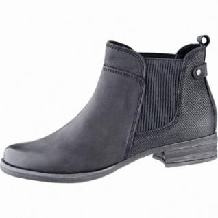 Marco Tozzi coole Damen Nubukleder Winter Chelsea Boots schwarz antik, Warmfutter, weiche Feel me Decksohle, 1639130/36
