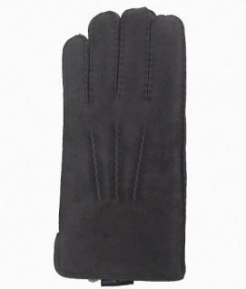 Damen Fingerhandschuhe Lammfell grau, Fellhandschuhe grau, Größe 8 - Vorschau 1