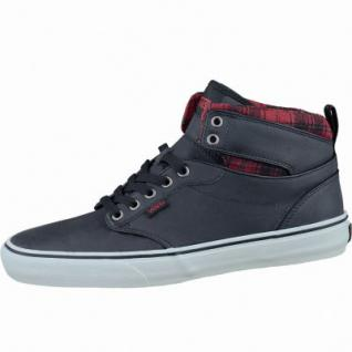 Vans Atwood Hi Herren Winter High Synthetik Sneakers flannel black marshmallow, Warmfutter, Vans-Decksohle, 2137103