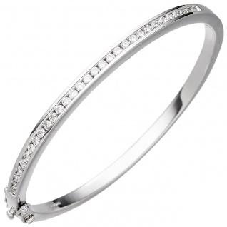 Armreif Armband 925 Sterling Silber mit Zirkonia Silberarmband Silberarmreif