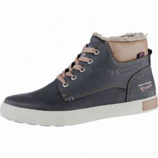 TOM TAILOR coole Herren Leder Imitat Winter Sneakers black, Warmfutter, Tom-Tailor-Laufsohle, 2539170/44