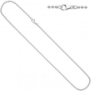 Kugelkette 925 Silber 2, 5 mm 50 cm Halskette Kette Silberkette Karabiner - Vorschau 2