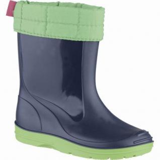 Beck Basic Mädchen, Jungen Winter PVC Stiefel blau, herausnehmbares Warmfutter, 5039103/34
