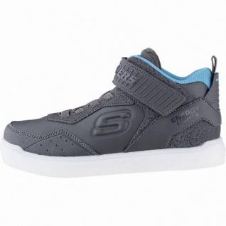 Skechers E-Pro Merrox Jungen Synthetik Sneakers charcoal, 7 cm Schaft, Meshfutter, LED Farbwechsel, 3341110/37