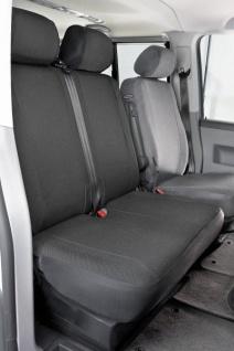 Passform Sitzbezüge Transporter VW Caddy, passgenauer Stoff Sitzbezug Einzelsitz vorn, Fahrer oder Beifahrer, ab Bj. 02/2004