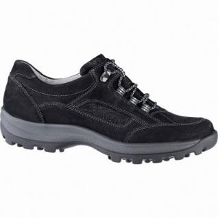Waldläufer Holly 25 Damen Leder Sneaker schwarz, Extra Weite H, Leder Fußbett, für lose Einlagen, 1341120/7.5