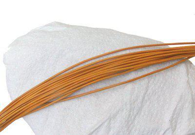 10 Stück Ziegenleder Rundriemen gelb, geschnitten, für Lederschmuck, Lederketten, Länge 100 cm, Ø 1 mm