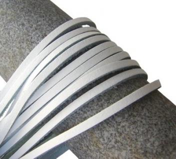 10 Stück Docksider Vierkant Rindleder Lederriemen weiß, Länge 120 cm, Stärke ca. 2, 8 mm, Breite ca. 3, 00 mm