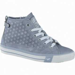 Mustang coole Mädchen Synthetik Glitzer Sneakers High grau, Mustang-Laufsohle, 3338127/35