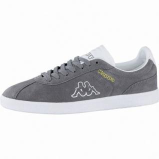 Kappa Legend coole Damen Velour Sneakers grey, weiche Sneaker Laufsohle, 4240116/36