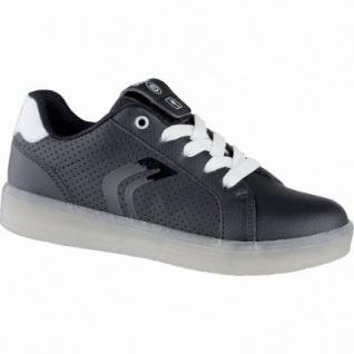 Geox coole Mädchen Synthetik Sneakers black, Meshfutter, LED-Laufsohle, Geox Fußbett, 3339106