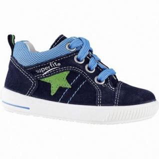 Superfit Jungen Leder Lauflern Sneakers blau, mittlere Weite, herausnehmbares Fußbett, 3042107/20