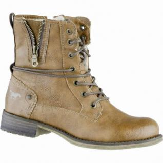 Mustang kuschlige Damen Synthetik Boots kastanie, Warmfutter, warme Mustang Decksohle, 1639110