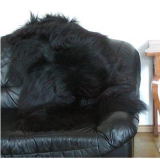 große wuschlige Nordlandschnuckenfelle schwarz, Haarlänge ca. 15 cm, ca. 120 cm