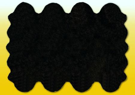 Fellteppiche schwarz gefärbt aus 8 Lammfellen, Größe ca. 185 x 235 cm, 30 Grad...