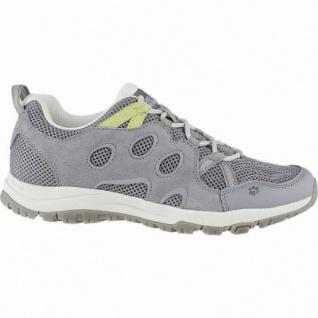 Jack Wolfskin Rocksand Chill Low W Damen Leder Outdoor Schuhe grey, atmungsaktiv mit Texacool, 4440152/6.5