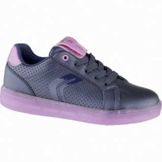 Geox coole Mädchen Synthetik Sneakers navy, Meshfutter, LED-Laufsohle, Geox Fußbett, 3339107/39