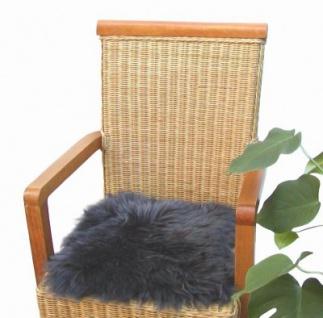 Heino Felle eckige Sitzauflage aus australischen Lammfellen, Fellkissen anthrazit, ca. 35x35 cm, waschbar, Haarlänge ca. 70 mm