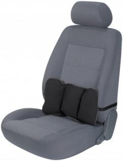 ergonomisches Baumwoll Auto Rückenstütz Kissen schwarz 22x36x4 cm, entlastet Rücken+Wirbelsäule, 30 Grad waschbar