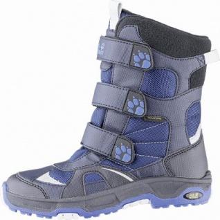 Jack Wolfskin Boys Snow Diver Texapore Jungen Synthetik Snow Boots blue, molliges Wamfutter, bis -20 Grad, 4541111/35
