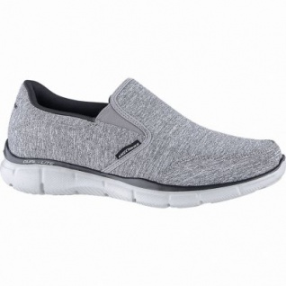 Skechers Equalizer coole Herren Jersey Slippers grey, Skechers Air Cooled Memory Foam-Fußbett, 4240160