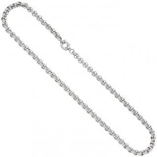 Erbskette 585 Gold Weißgold 45 cm Kette Halskette Weißgoldkette Federring