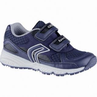 Geox coole Jungen Synthetik Sneakers green, Meshfutter, herausnehmbares Leder Fußbett, 3342130/25