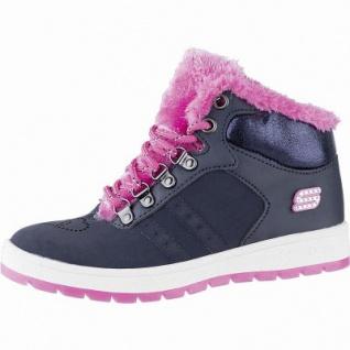 Skechers Street Cleat 2.0 Trickstar Mädchen Leder Sneakers navy, 6 cm Schaft, Warmfutter, weiches Fußbett, 3741218/34