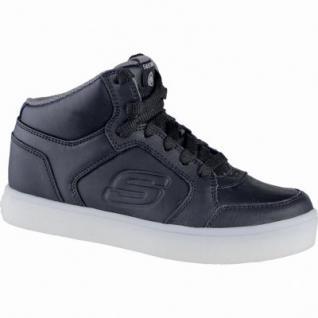 Skechers Energy Light coole Jungen Leder Sneakers black, Textilfutter. weiches Fußbett, 3339110