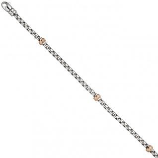 Armband 585 Gold Weißgold Rotgold bicolor 39 Diamanten Brillanten 19 cm